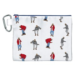 Hotline Bling White Background Canvas Cosmetic Bag (XXL)