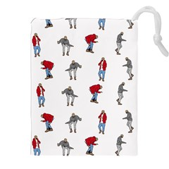 Hotline Bling White Background Drawstring Pouches (XXL)