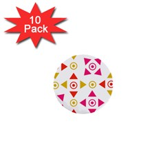 Spectrum Styles Pink Nyellow Orange Gold 1  Mini Buttons (10 Pack)
