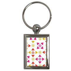 Spectrum Styles Pink Nyellow Orange Gold Key Chains (Rectangle)