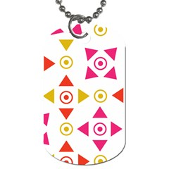 Spectrum Styles Pink Nyellow Orange Gold Dog Tag (One Side)
