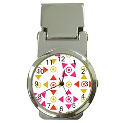 Spectrum Styles Pink Nyellow Orange Gold Money Clip Watches