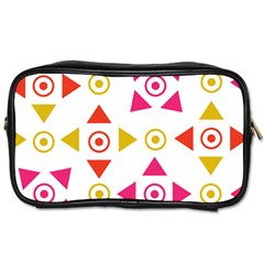Spectrum Styles Pink Nyellow Orange Gold Toiletries Bags 2-Side