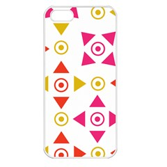 Spectrum Styles Pink Nyellow Orange Gold Apple Iphone 5 Seamless Case (white)
