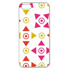 Spectrum Styles Pink Nyellow Orange Gold Apple Seamless iPhone 5 Case (Clear)