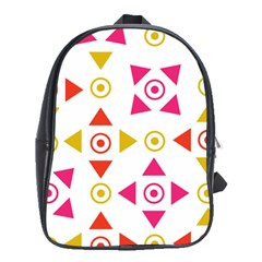 Spectrum Styles Pink Nyellow Orange Gold School Bags (XL)