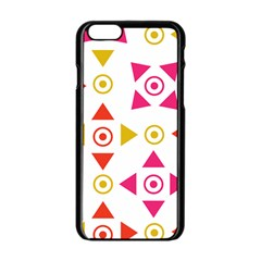 Spectrum Styles Pink Nyellow Orange Gold Apple iPhone 6/6S Black Enamel Case