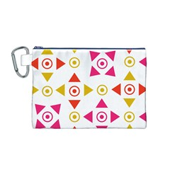 Spectrum Styles Pink Nyellow Orange Gold Canvas Cosmetic Bag (M)