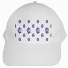 Snow Blue White Cool White Cap