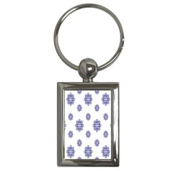 Snow Blue White Cool Key Chains (Rectangle)