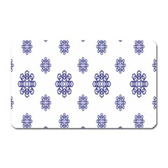 Snow Blue White Cool Magnet (Rectangular)