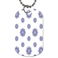 Snow Blue White Cool Dog Tag (Two Sides)