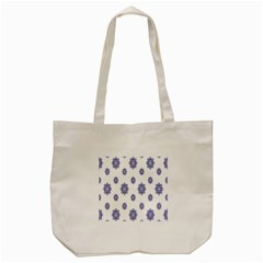 Snow Blue White Cool Tote Bag (cream)