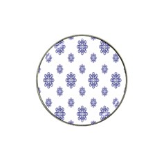 Snow Blue White Cool Hat Clip Ball Marker