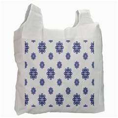 Snow Blue White Cool Recycle Bag (One Side)
