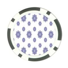 Snow Blue White Cool Poker Chip Card Guard (10 pack)