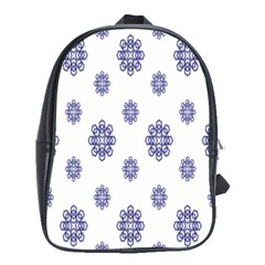 Snow Blue White Cool School Bags(large)