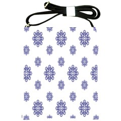 Snow Blue White Cool Shoulder Sling Bags