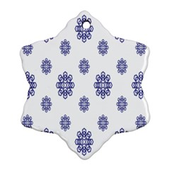 Snow Blue White Cool Ornament (Snowflake)