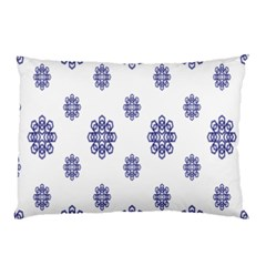 Snow Blue White Cool Pillow Case (Two Sides)