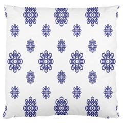 Snow Blue White Cool Large Cushion Case (one Side)