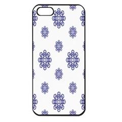 Snow Blue White Cool Apple Iphone 5 Seamless Case (black)