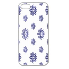 Snow Blue White Cool Apple Seamless iPhone 5 Case (Clear)