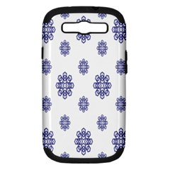 Snow Blue White Cool Samsung Galaxy S III Hardshell Case (PC+Silicone)