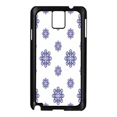 Snow Blue White Cool Samsung Galaxy Note 3 N9005 Case (Black)
