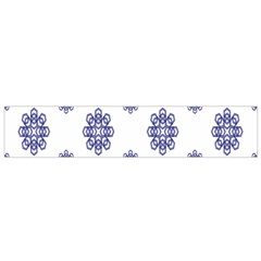 Snow Blue White Cool Flano Scarf (Small)
