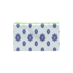 Snow Blue White Cool Cosmetic Bag (XS)