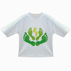 Soles Feet Green Yellow Family Infant/Toddler T-Shirts