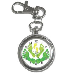 Soles Feet Green Yellow Family Key Chain Watches