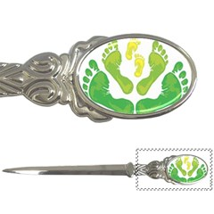 Soles Feet Green Yellow Family Letter Openers
