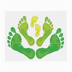 Soles Feet Green Yellow Family Small Glasses Cloth