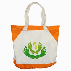 Soles Feet Green Yellow Family Accent Tote Bag