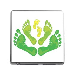 Soles Feet Green Yellow Family Memory Card Reader (Square)