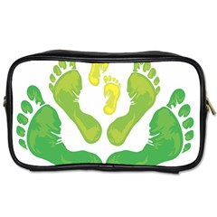 Soles Feet Green Yellow Family Toiletries Bags