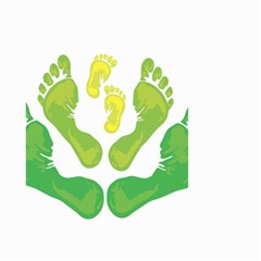 Soles Feet Green Yellow Family Small Garden Flag (Two Sides)