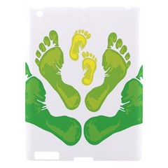 Soles Feet Green Yellow Family Apple iPad 3/4 Hardshell Case