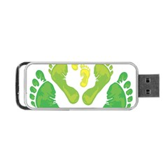 Soles Feet Green Yellow Family Portable Usb Flash (one Side)