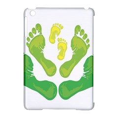 Soles Feet Green Yellow Family Apple iPad Mini Hardshell Case (Compatible with Smart Cover)