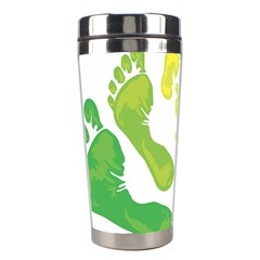Soles Feet Green Yellow Family Stainless Steel Travel Tumblers