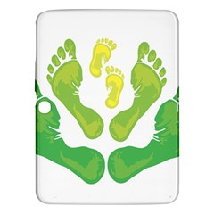 Soles Feet Green Yellow Family Samsung Galaxy Tab 3 (10.1 ) P5200 Hardshell Case