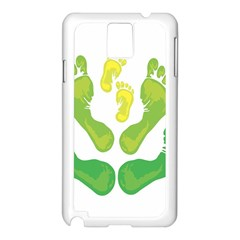 Soles Feet Green Yellow Family Samsung Galaxy Note 3 N9005 Case (White)