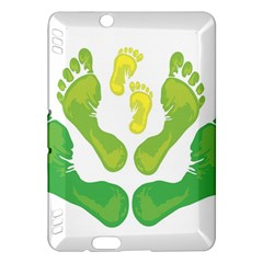 Soles Feet Green Yellow Family Kindle Fire HDX Hardshell Case