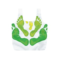 Soles Feet Green Yellow Family Full Print Recycle Bags (S)