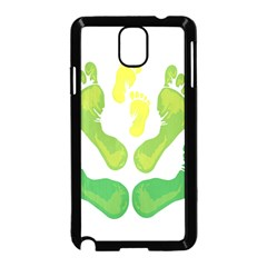 Soles Feet Green Yellow Family Samsung Galaxy Note 3 Neo Hardshell Case (Black)