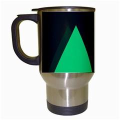 Soaring Mountains Nexus Black Green Travel Mugs (White)