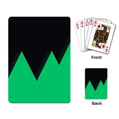 Soaring Mountains Nexus Black Green Playing Card